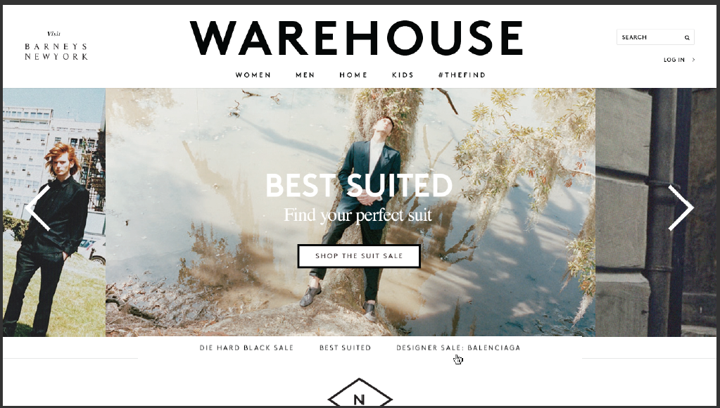 Barneys Warehouse  Design, UX & Website