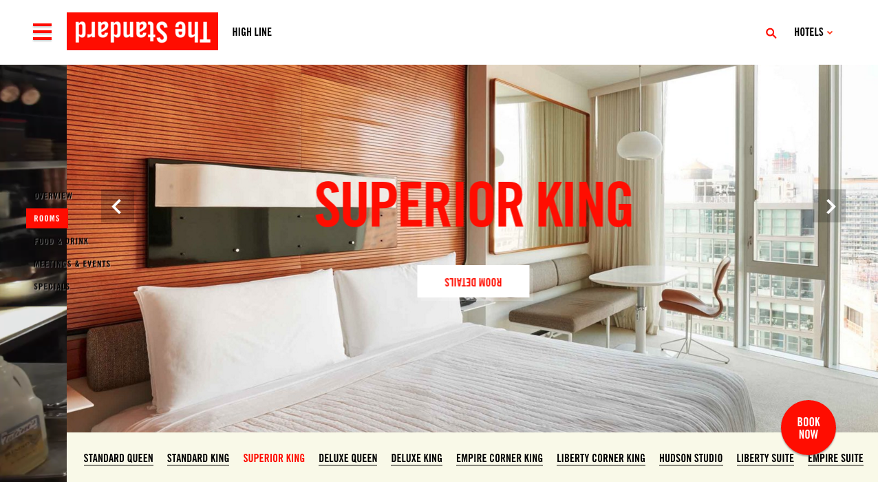 Room Landing page