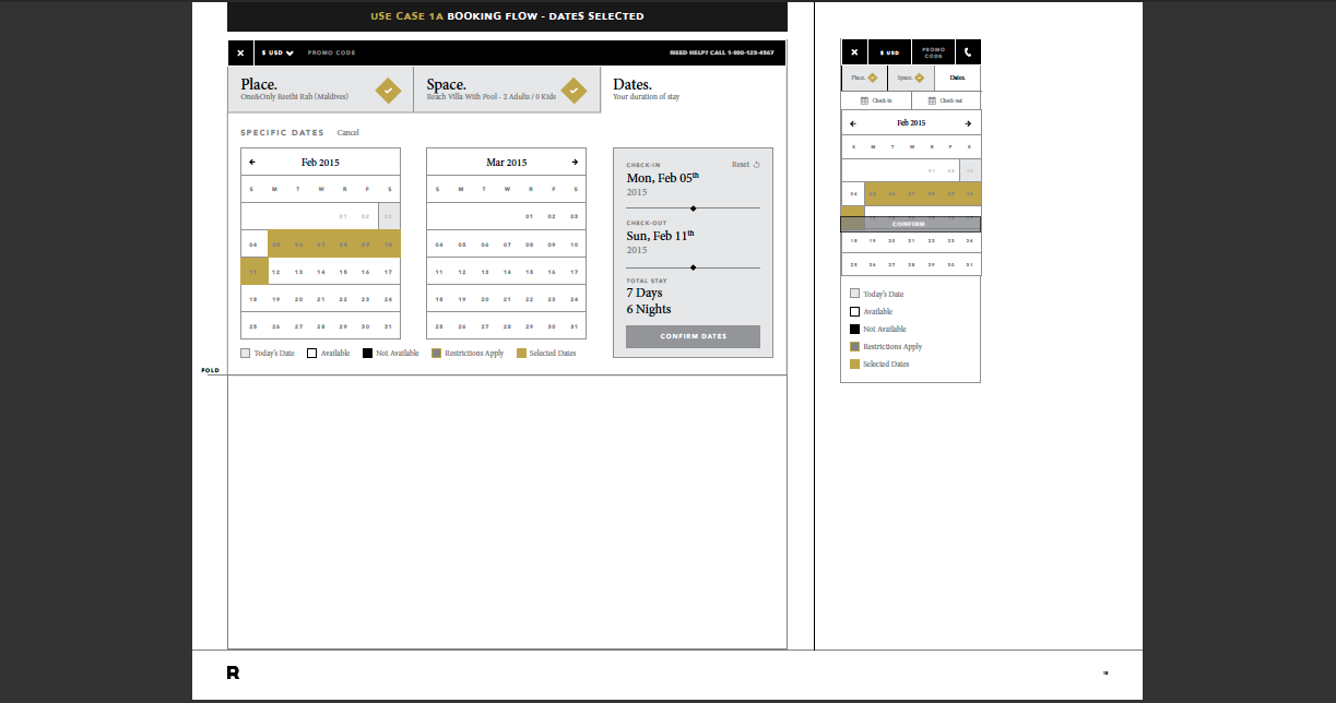Booking Engine calender - site design & build