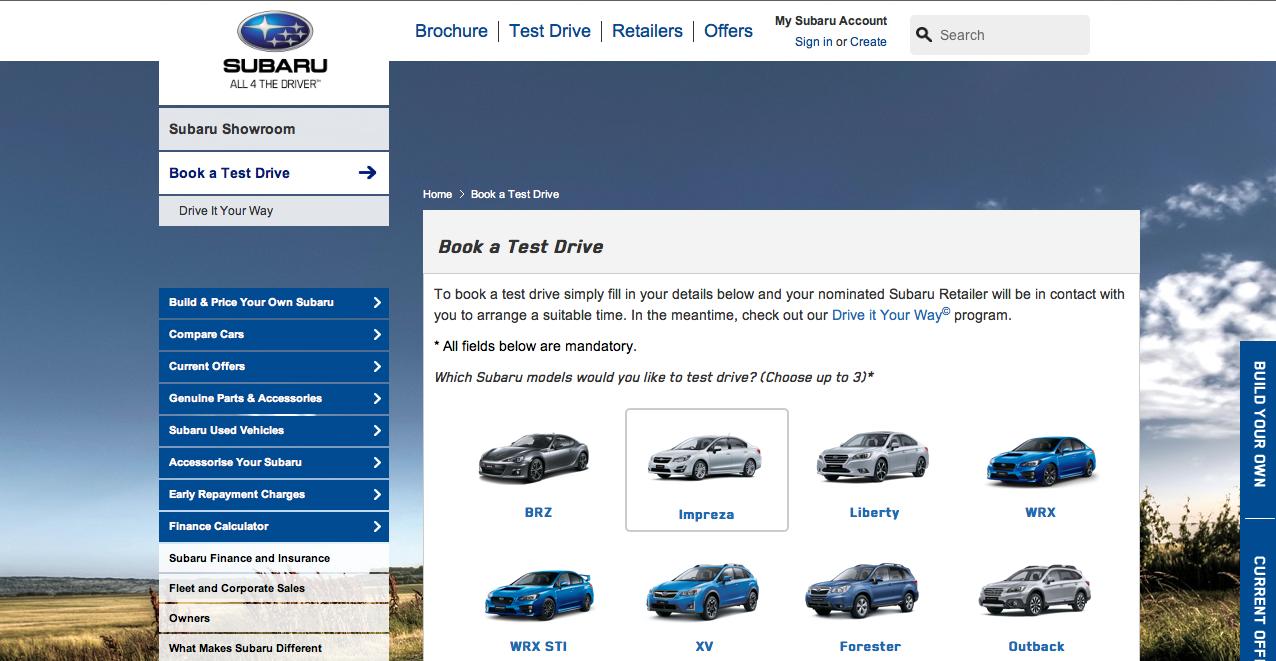 Car category navigation