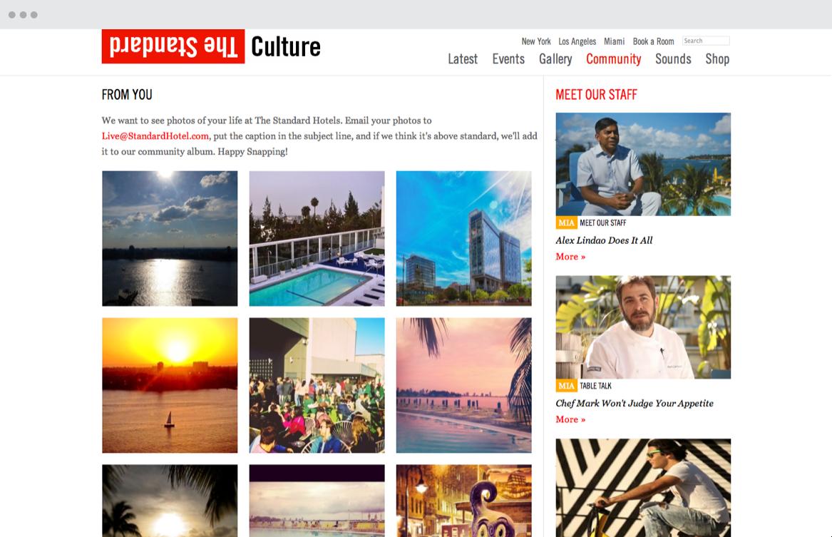 Culture blog content page