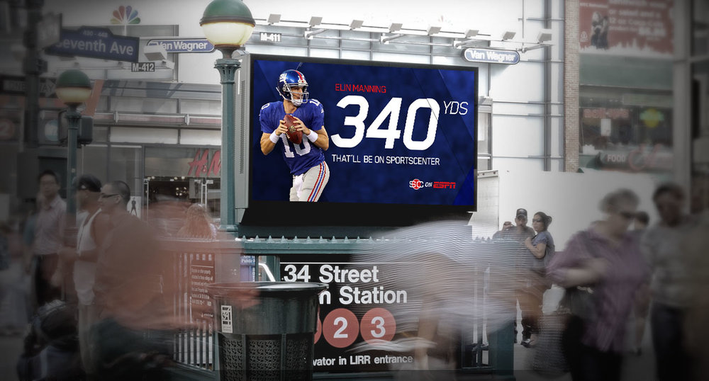 OOH digital billboard banners - insitu at a NYC subway entrance