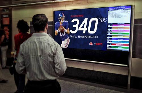 OOH digital billboard banners - insitu in a NYC subway