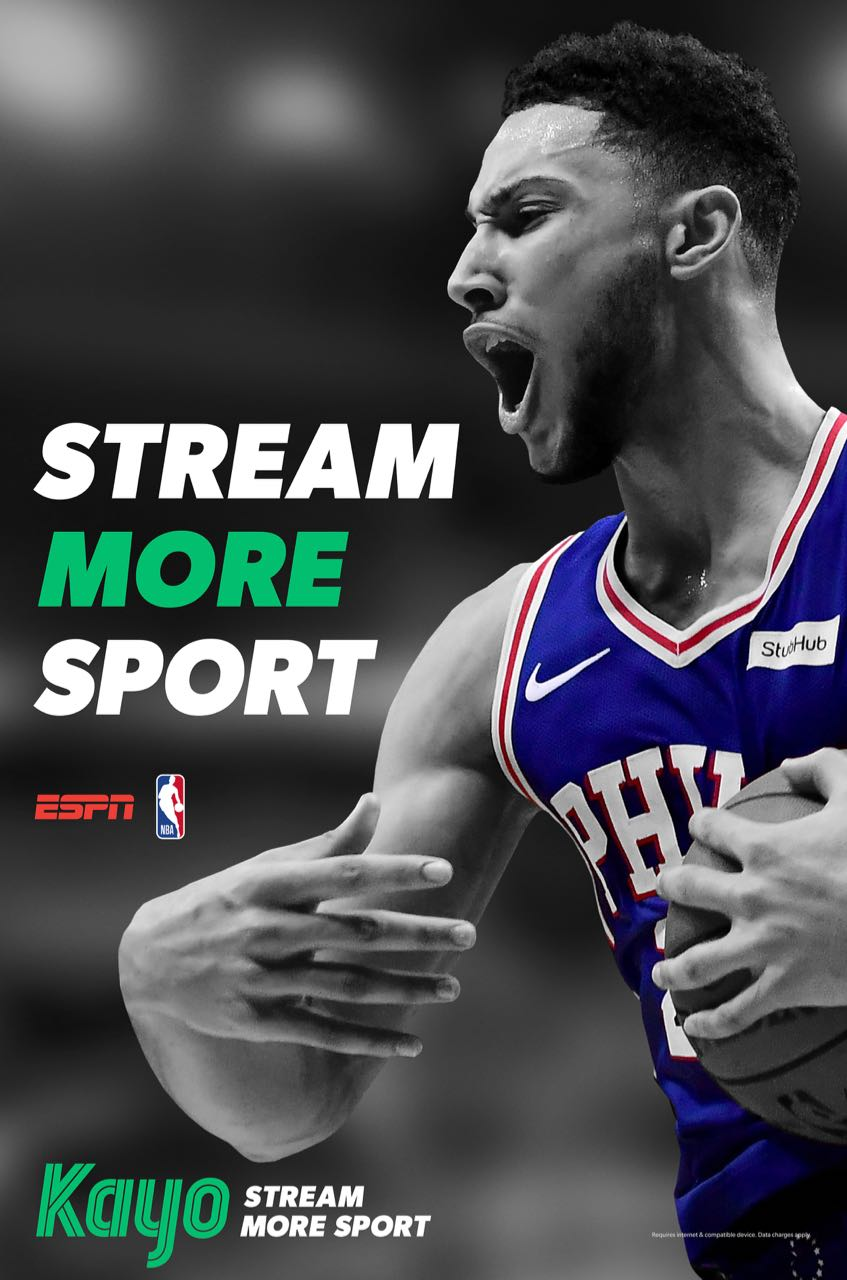 Ben Simmons appears on one of the many digital billboard banners as part of the Nationwide campaign launch