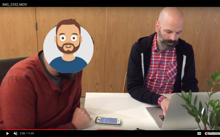 Usability testing with a real person but a fake Andy.