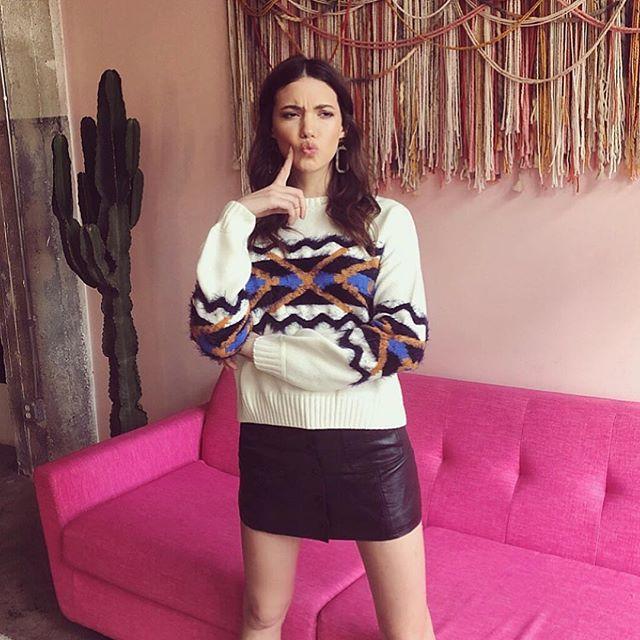 Sweet Sandy @sandyevangelista on set for @shopbaloot FW19 💕 styled by @carlyohurn 💄by @marissa_tomaino ✨ #fall #winter #cute #fun #fashion #lookbook #prettyinstinct #bts