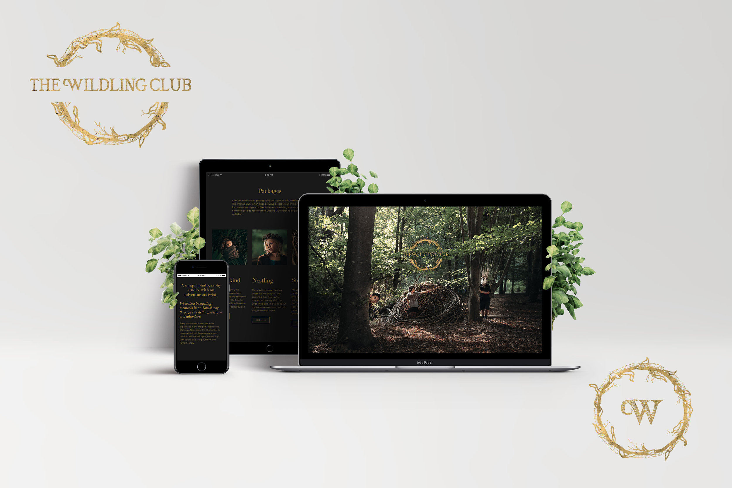 The Wildling Club - Logo and web design