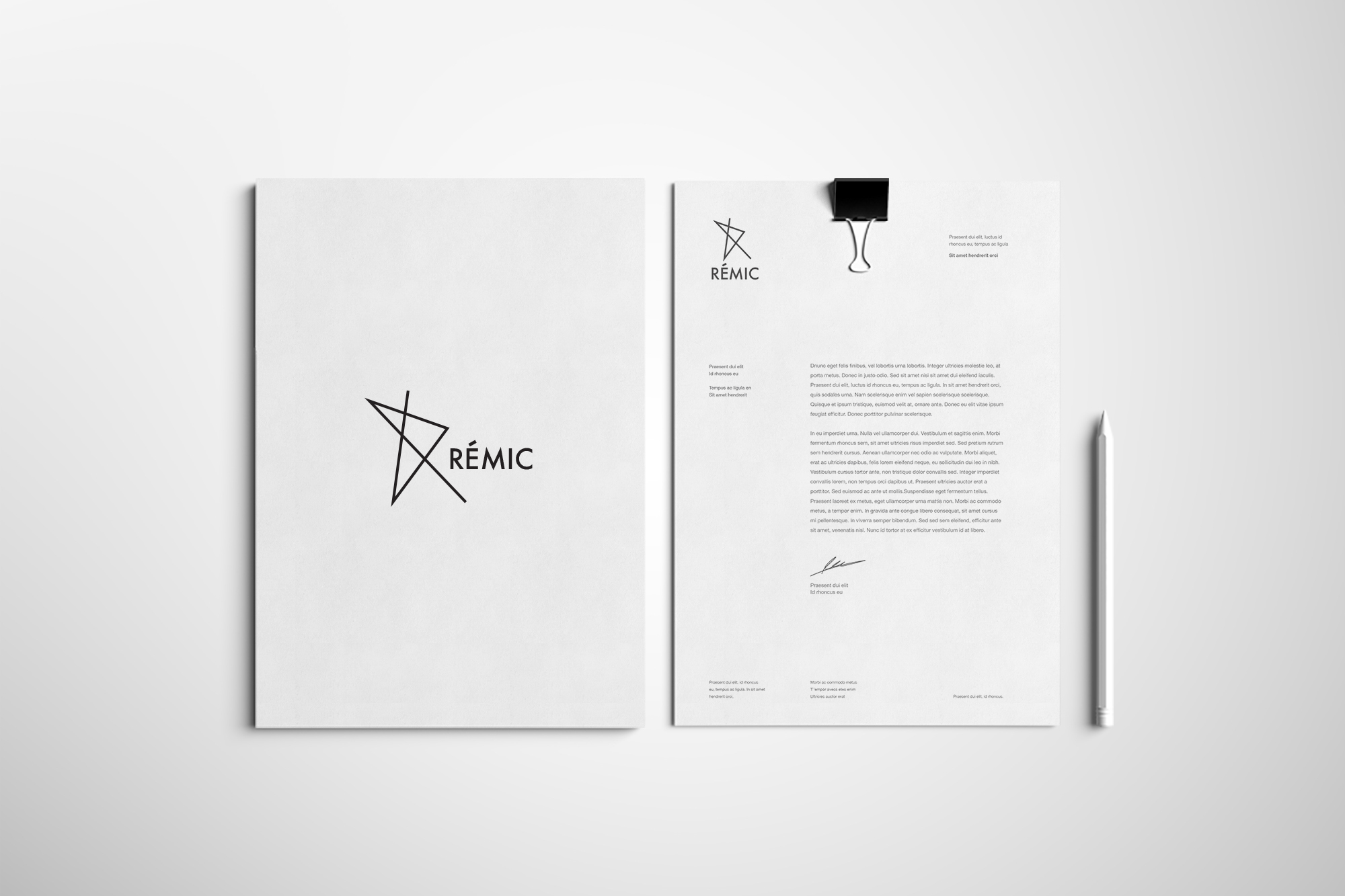 RÉMIC / Logo design