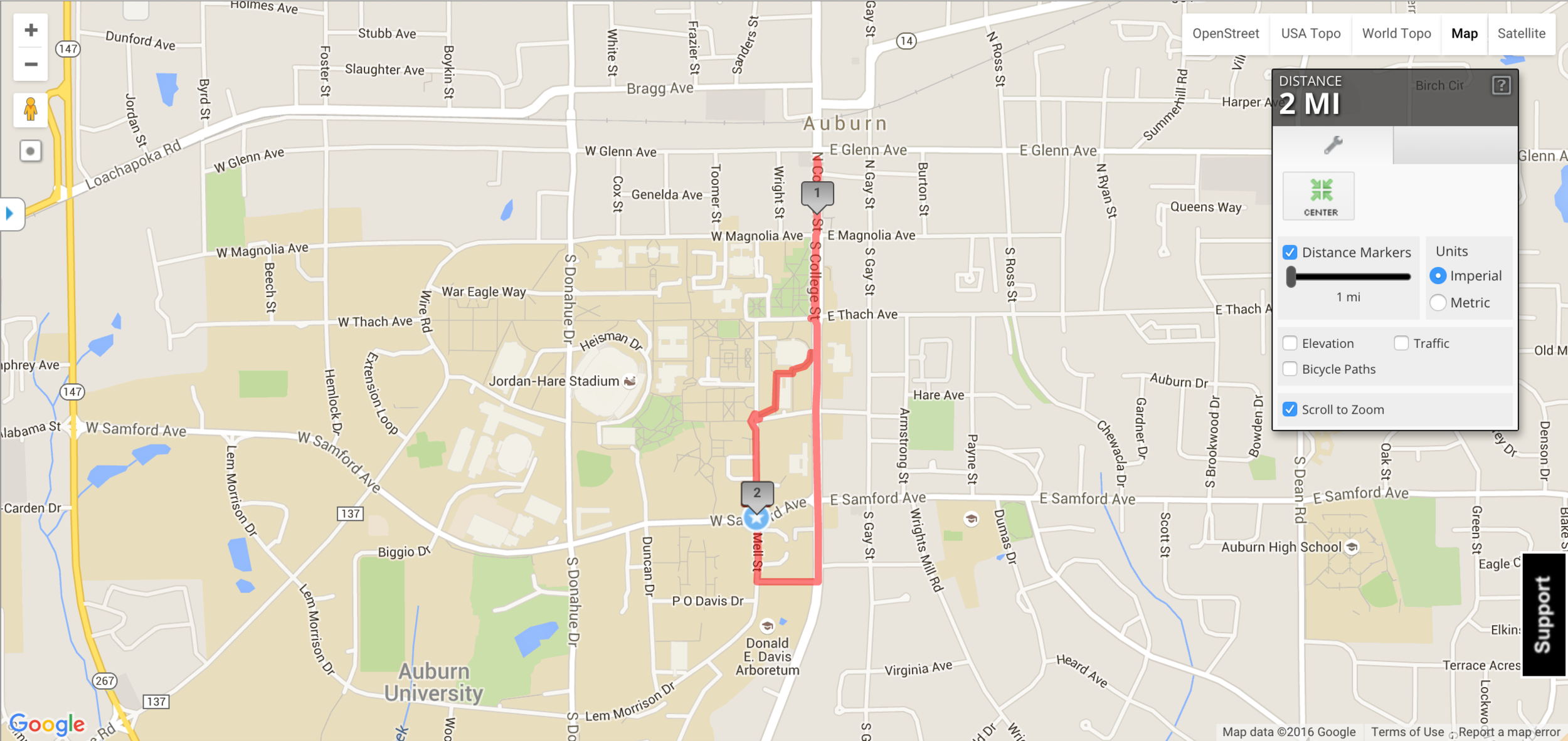Provided by  MapMyRun.com