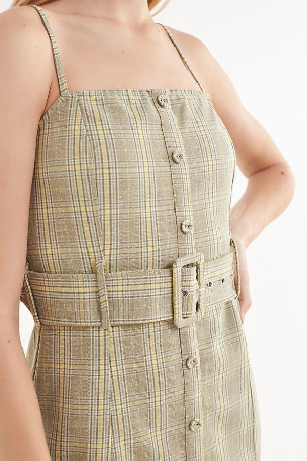 Gingham Button Down Dress