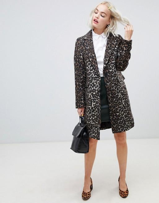 Tailored Leopard Coat