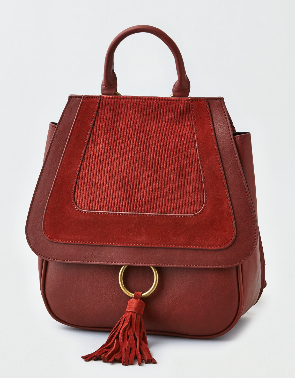 Red Ring Corduroy Bag