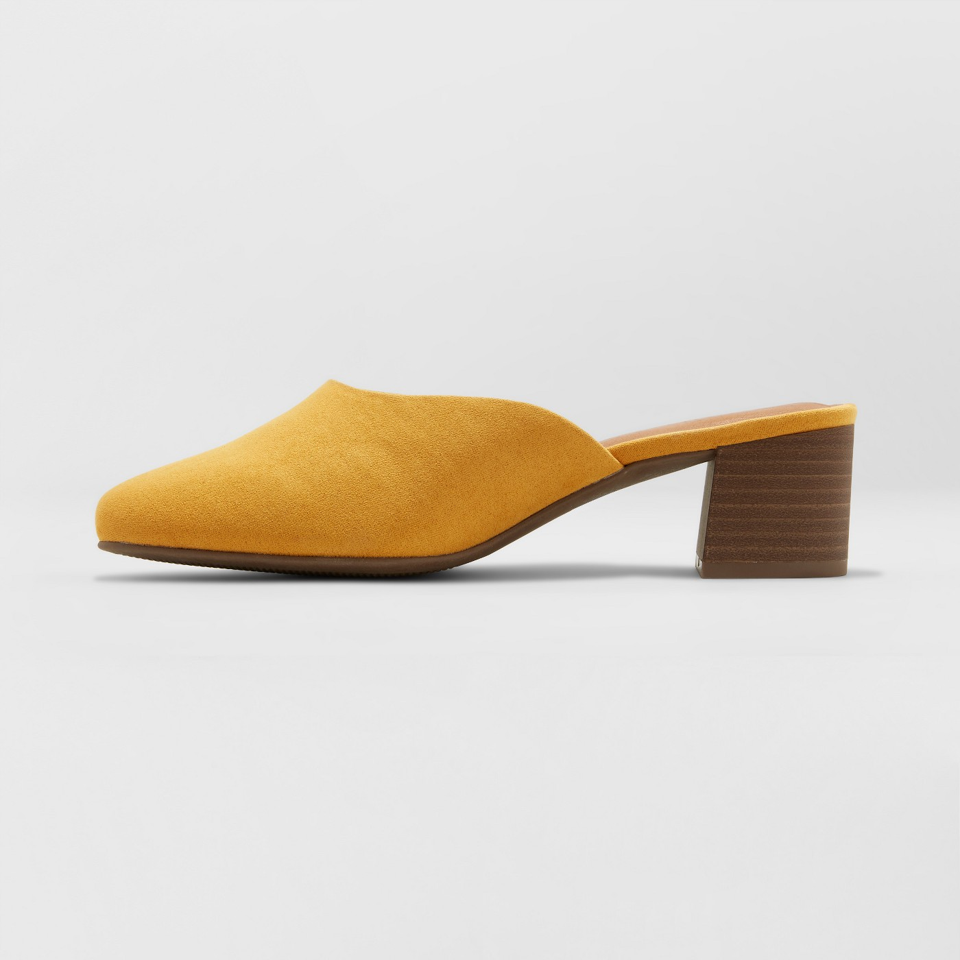 Mustard Low Heel Mules