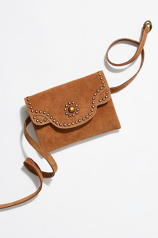 Distressed Leather Belt Bag