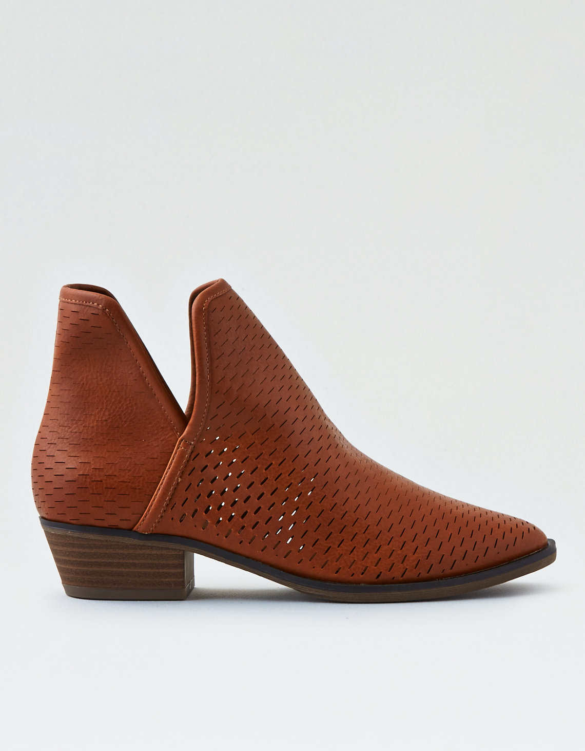 Cut Out Leather Booties