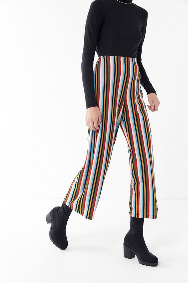 Cropped Striped Pant