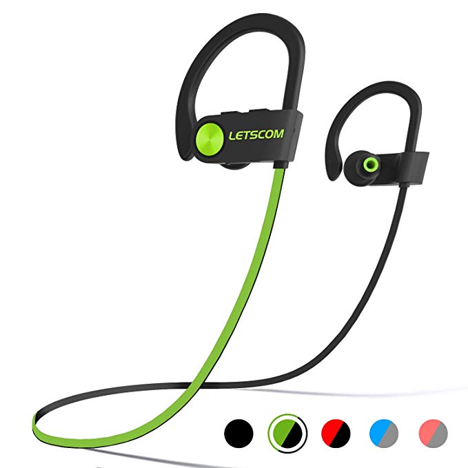 For the one who won't workout without music… - LETSCOM Bluetooth Headphones   $19.95