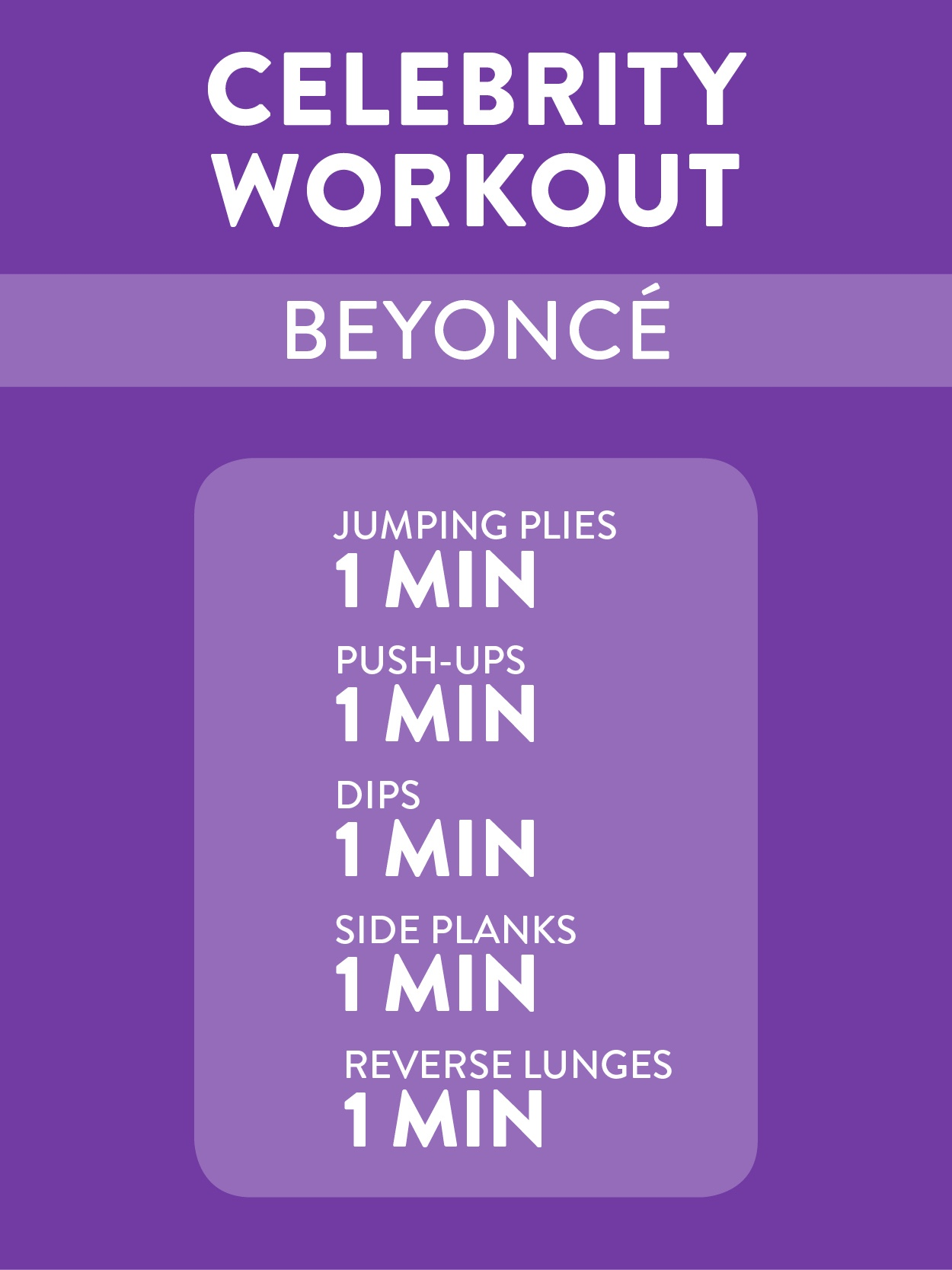 Beyonce's 5-Minute Workout -