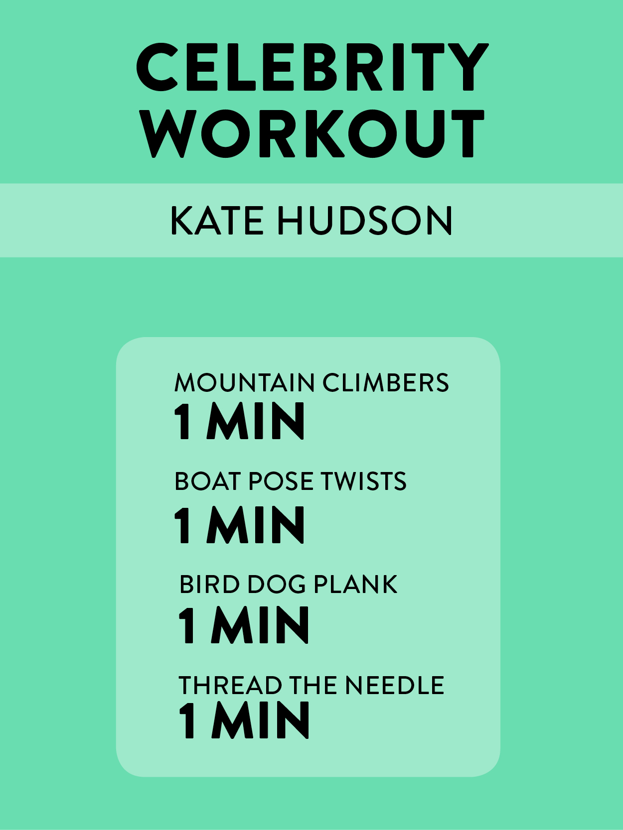 Kate Hudson's 4-Minute Core Workout -