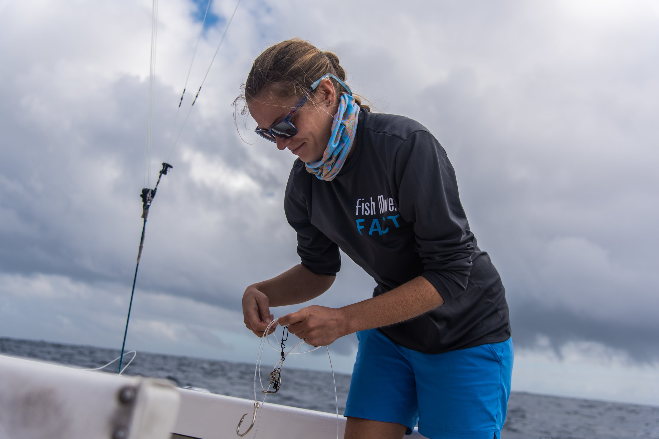 Breanna DeGroot - Breanna DeGroot, MSc. is a FEC research technician on the grouper guard project. She joined the project after graduating with her M.S. in Biological Sciences from Florida Atlantic University in 2018 while working for the FEC Lab. Prior to joining the lab, Breanna worked at Mote Marine Laboratory in both the ocean acidification and spotted eagle ray conservation program from 2013-2016. During her time at Mote she also worked as a education specialist teaching a variety of educational programs for children ages 6-15. Her primary research interests lie in the movement ecology, behavior, and conservation of fishes.