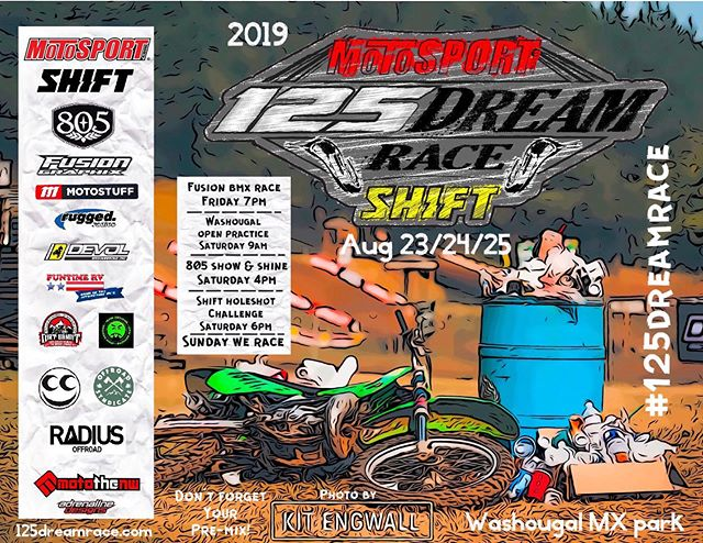 It's time to start loading up for the @motosportinc @125.dream.race presented by @shiftmx.  8 years in the making.  It's going to be a wicked time this weekend.  #motothenw #125dreamrace
