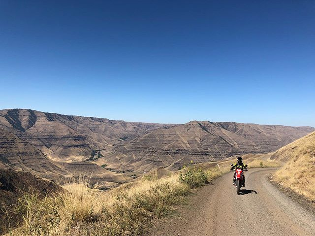 @meaganjeane checking out some of the roads on a dualsport ride to Hat Point lookout in NE Oregon.  #motothenw