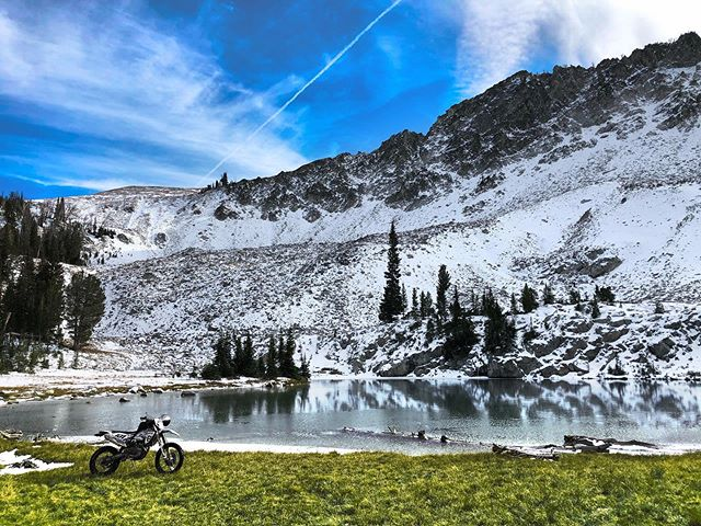 High Altitude Lake in the Sawtooth National Forest.  #motothenw