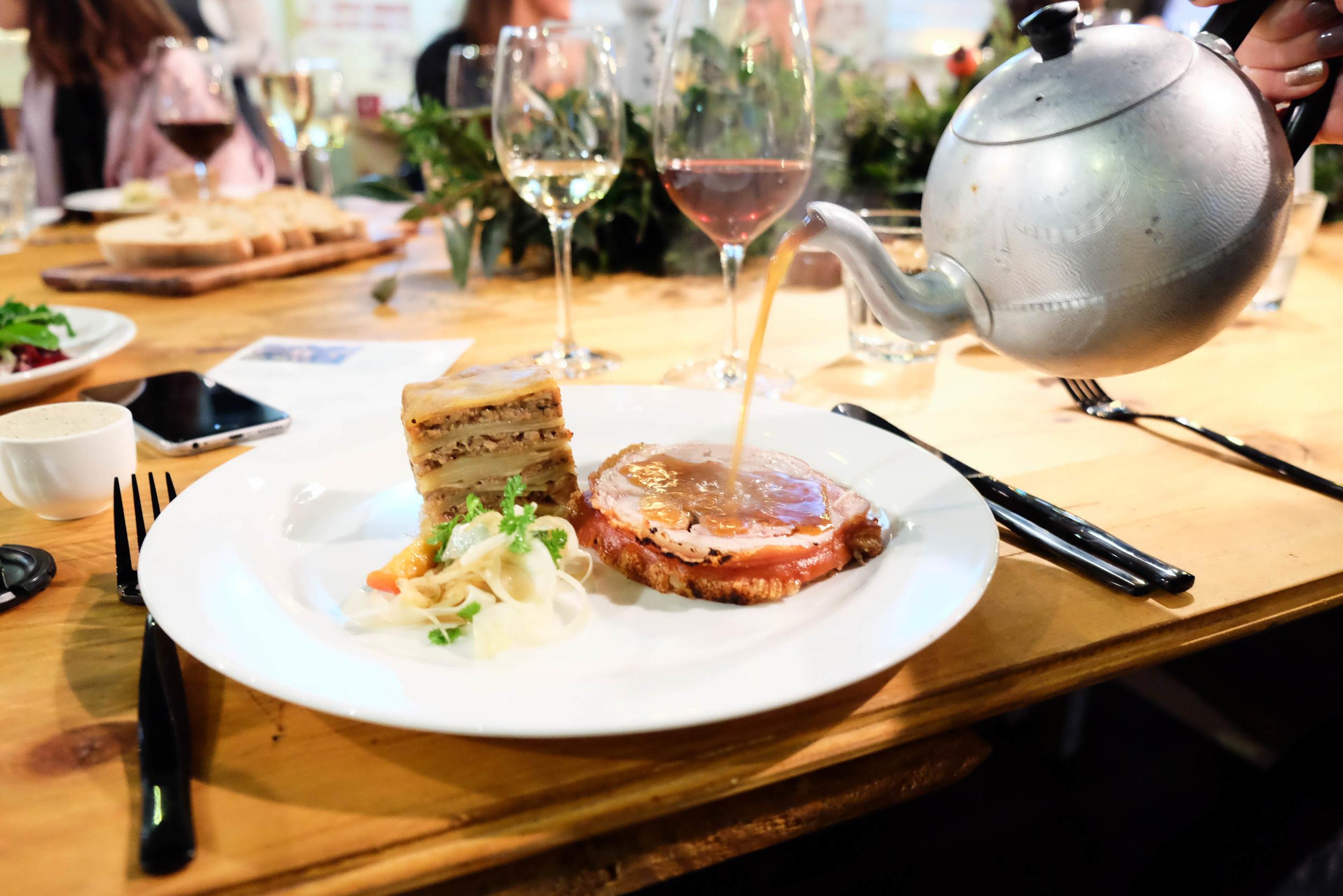 Main course at Restaurant Ballarat