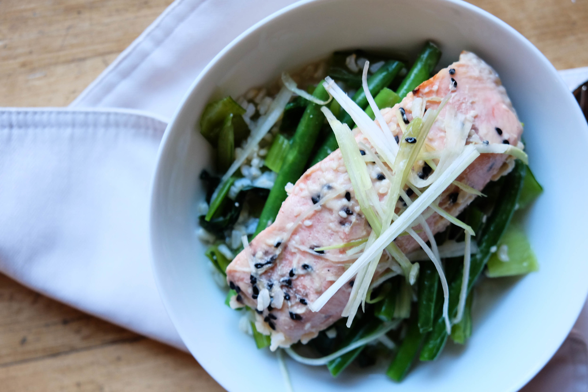Eat Fit Food Dashi Broth with Salmon