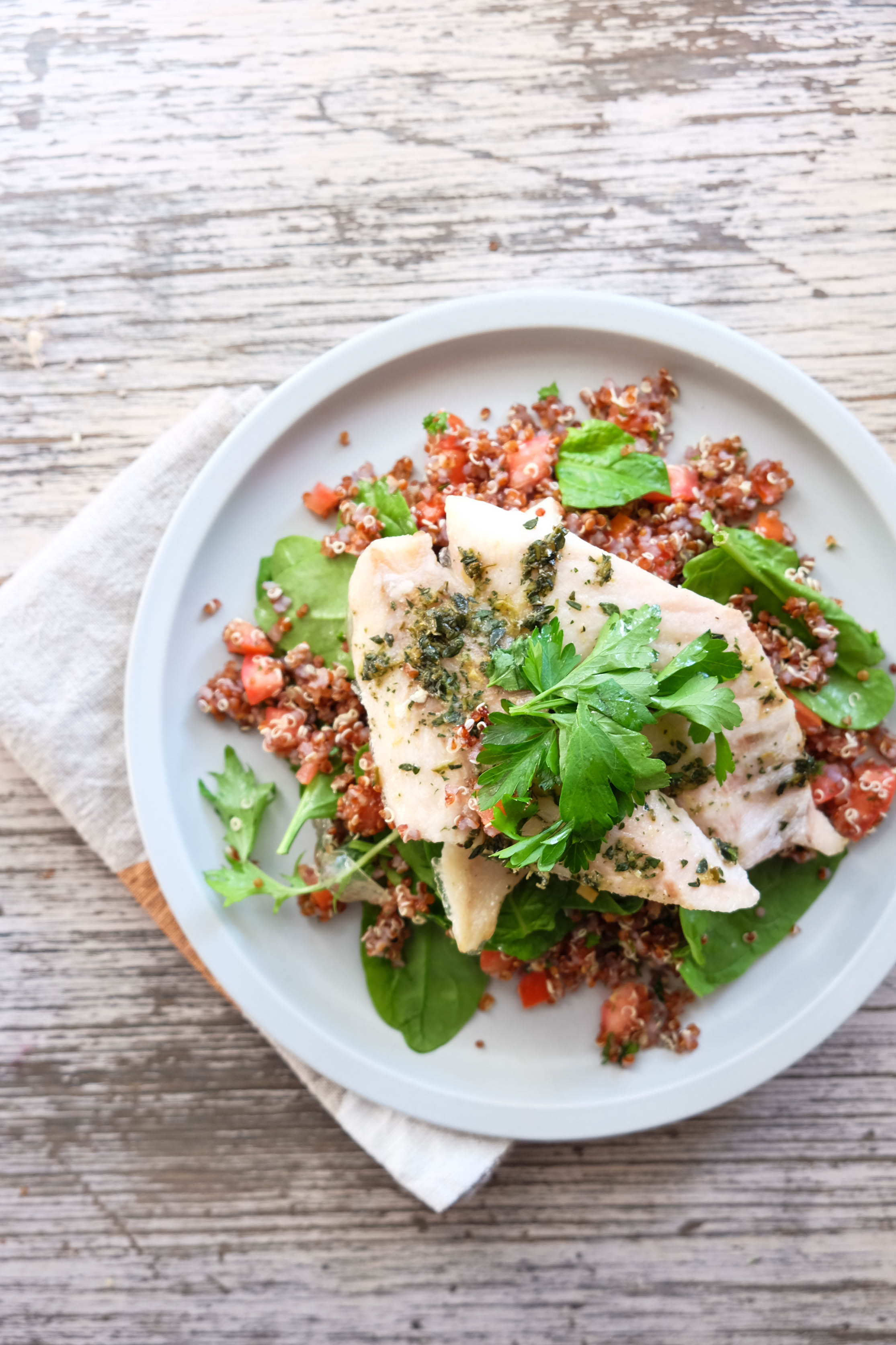 Eat Fit Food thyme and lemon chicken with quinoa