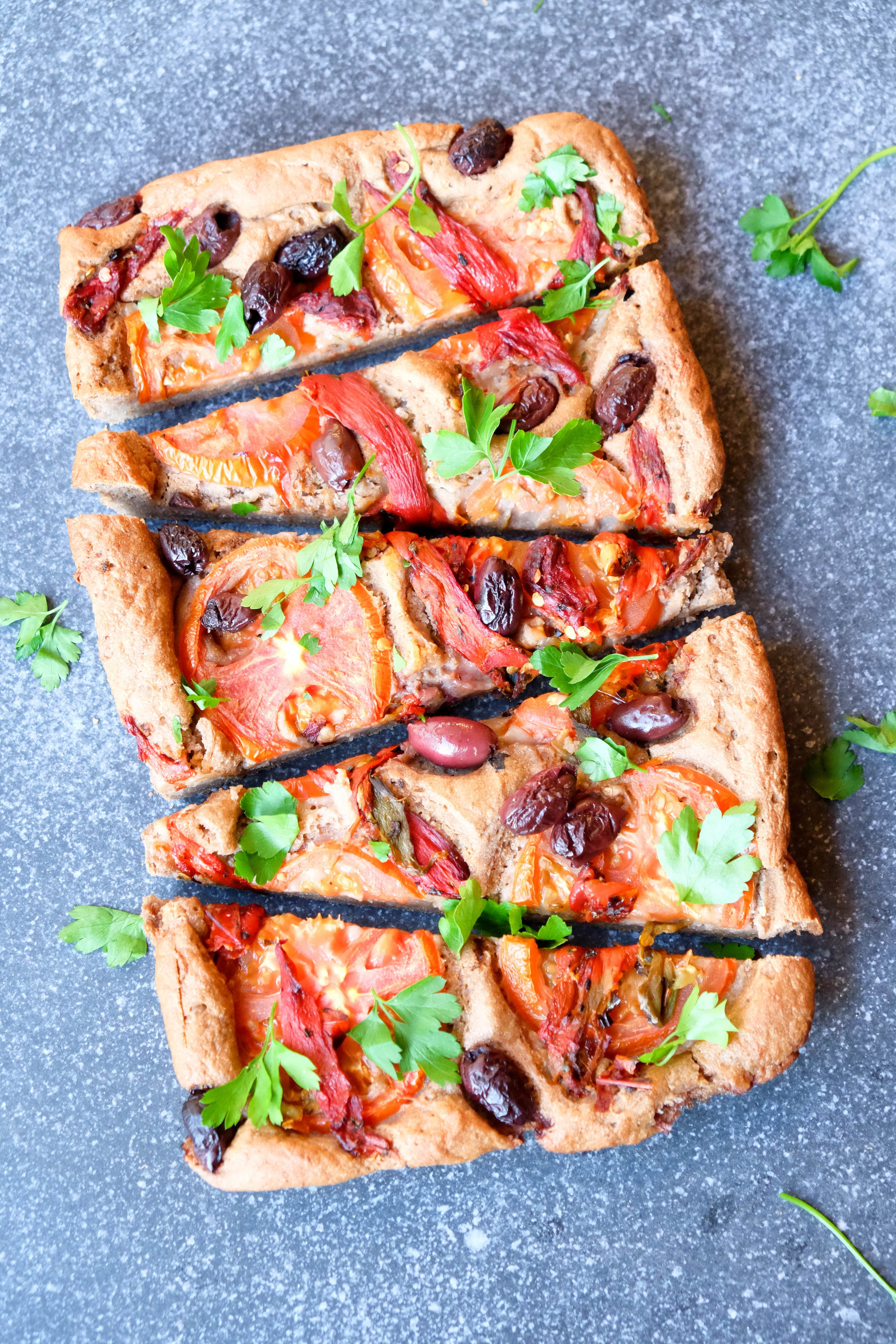 Simple and healthy focaccia