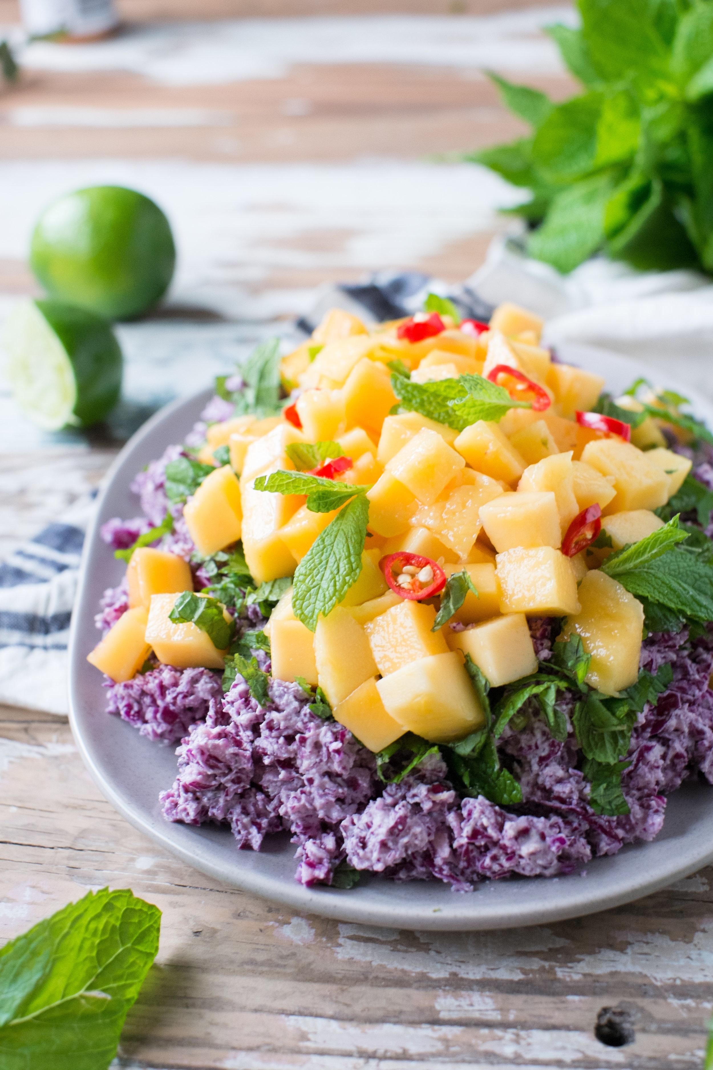 Super healthy mango slaw