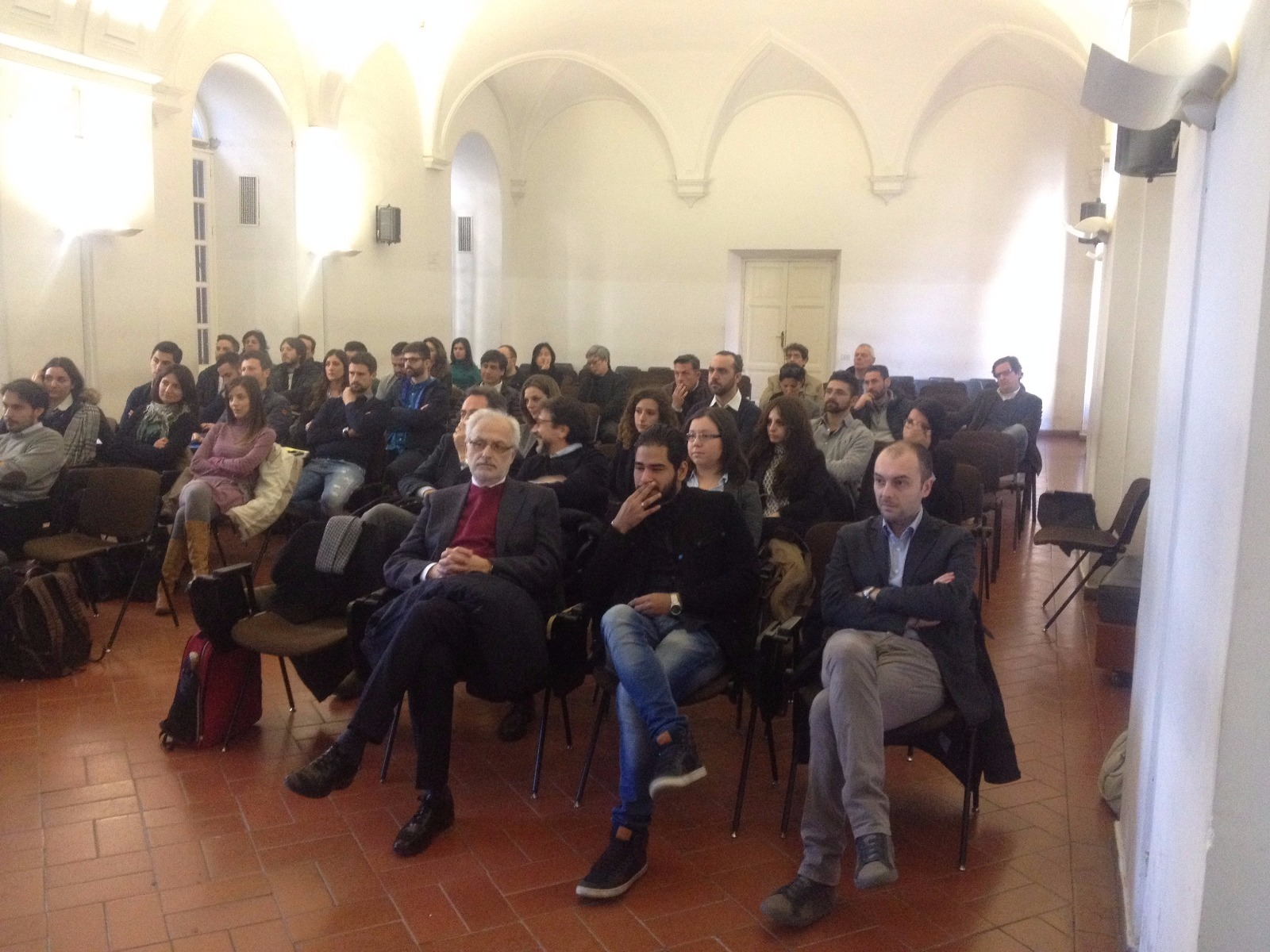 Il pubblico nell'Aula del Chiostro.
