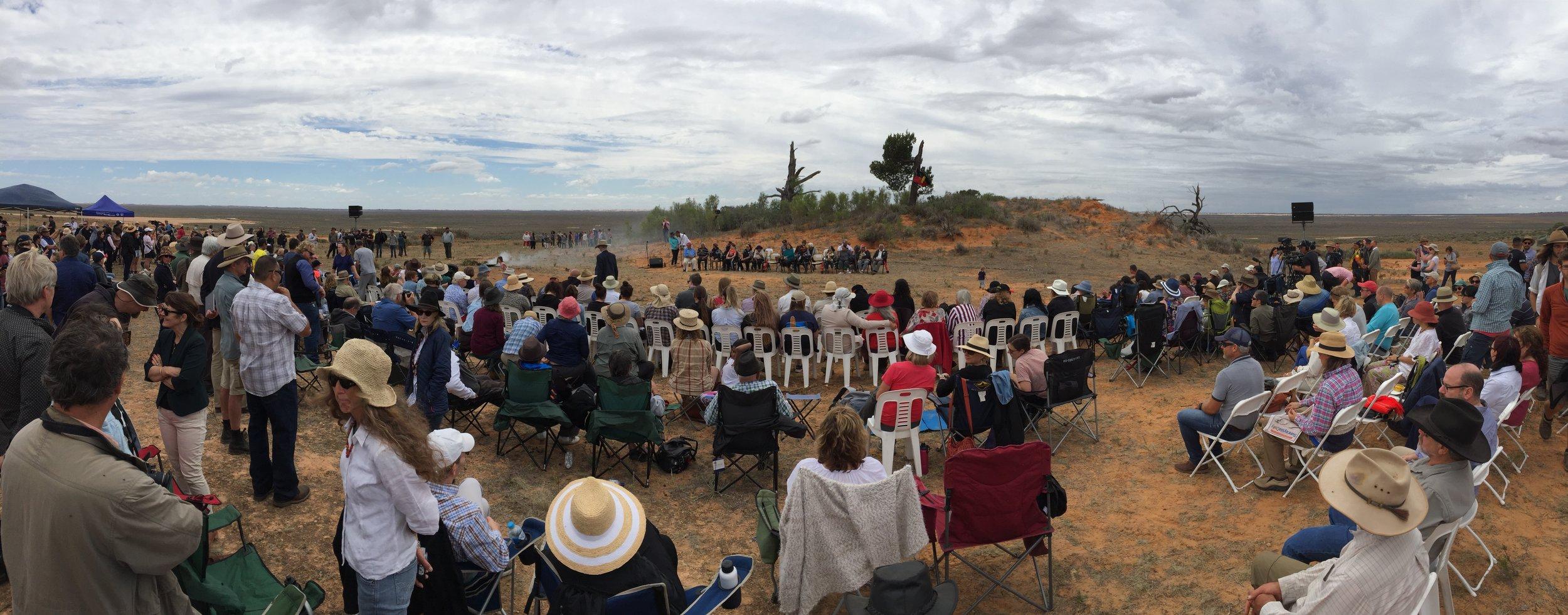 Returning ceremony at Lake Mungo (credit: Matthew Kneale)