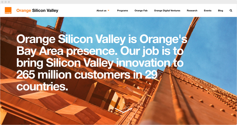 OrangeSV.com 2.0 landing page