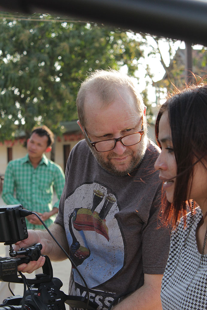 Owen and his wife, Jasmine, making films in Cambodia
