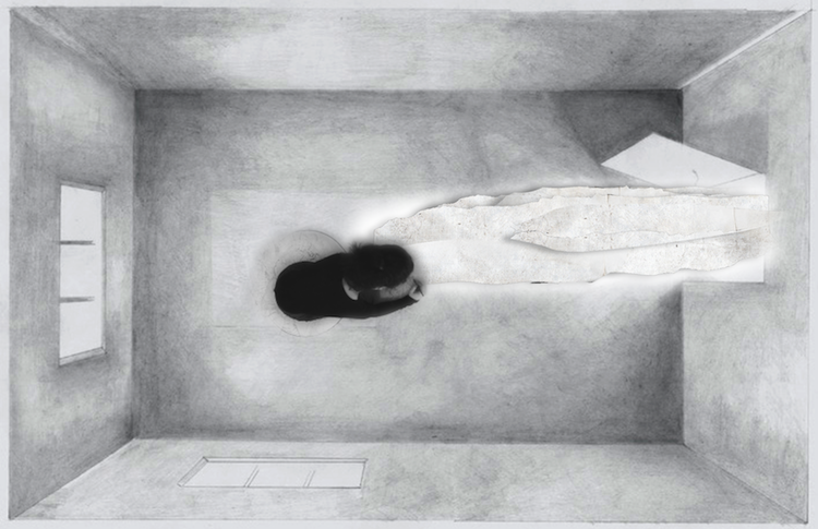 Yifat Bezalel, Personal Structures , Eheye Asher Eheye (I Shall Be The One That I Shall Be), drawing and video installation, 2013