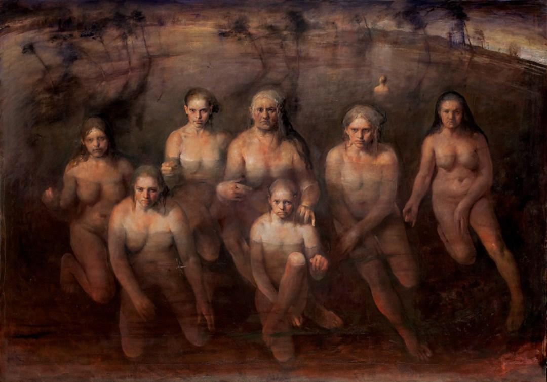 Odd Nerdrum,Maenads, oil on canvas, 2014.
