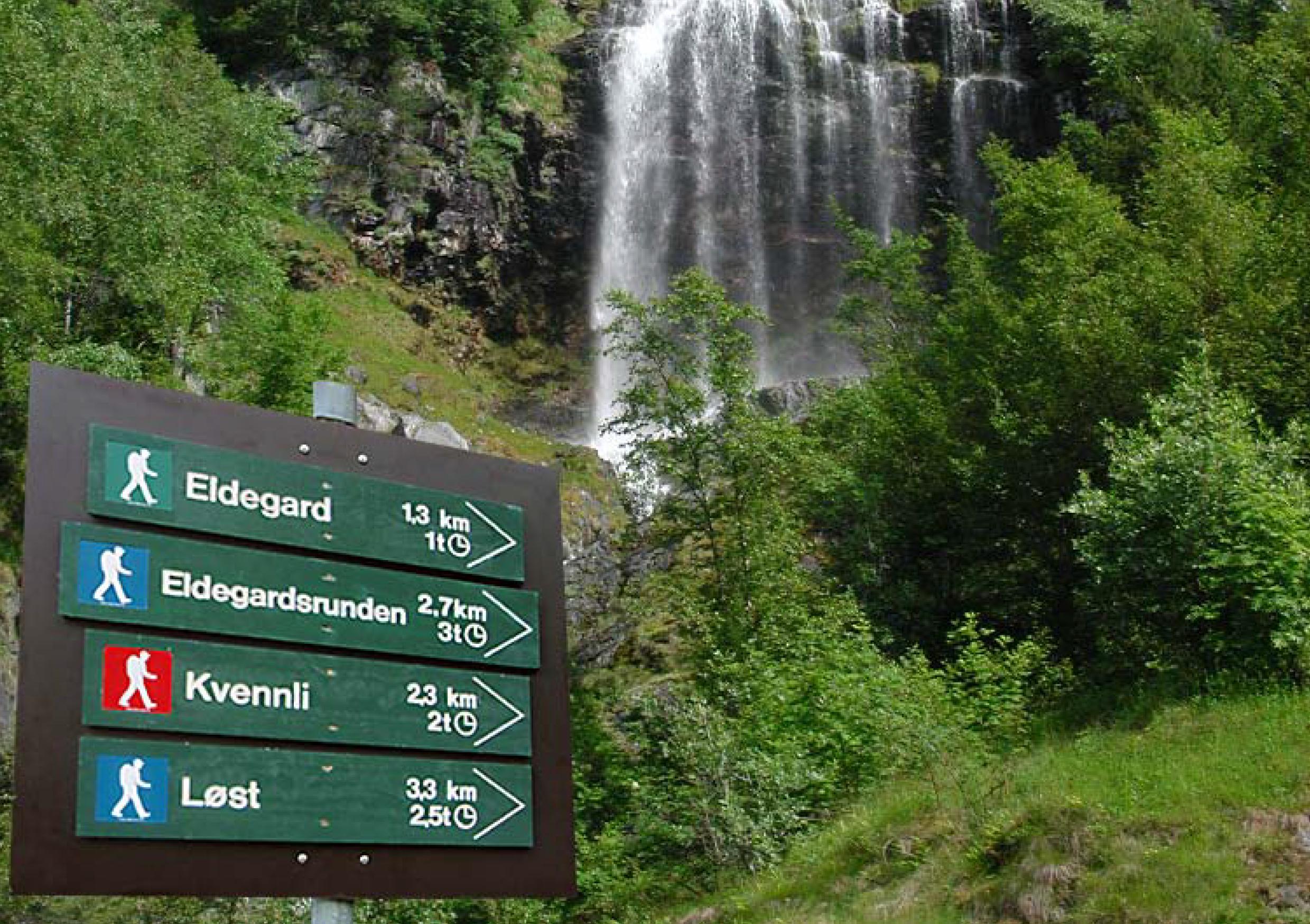 På vegen opp mot Bøttejuv. Foto: Egil Jørgen Lund
