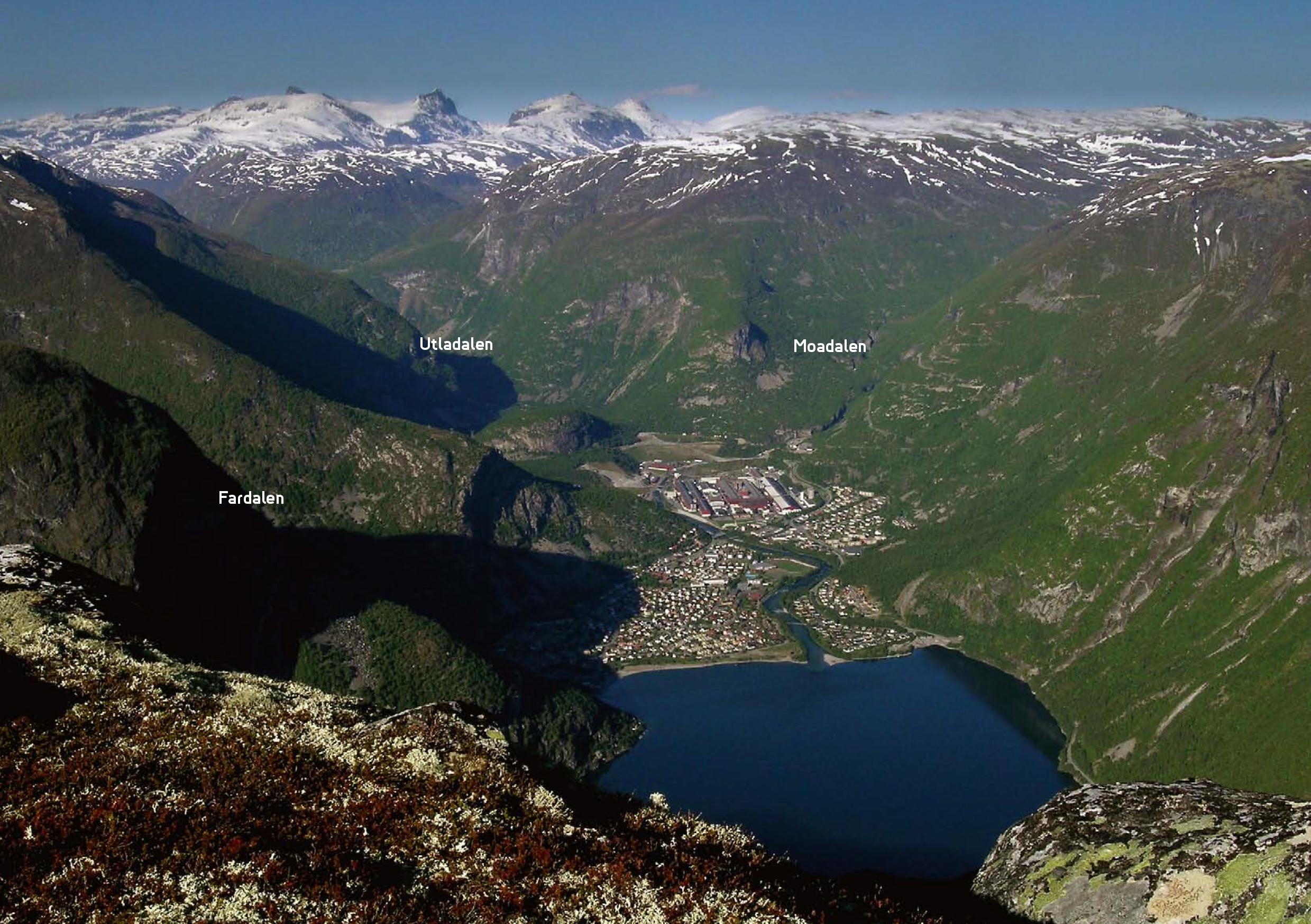 Utsikt frå Bøttejuv. Foto: Bjørg Bergum