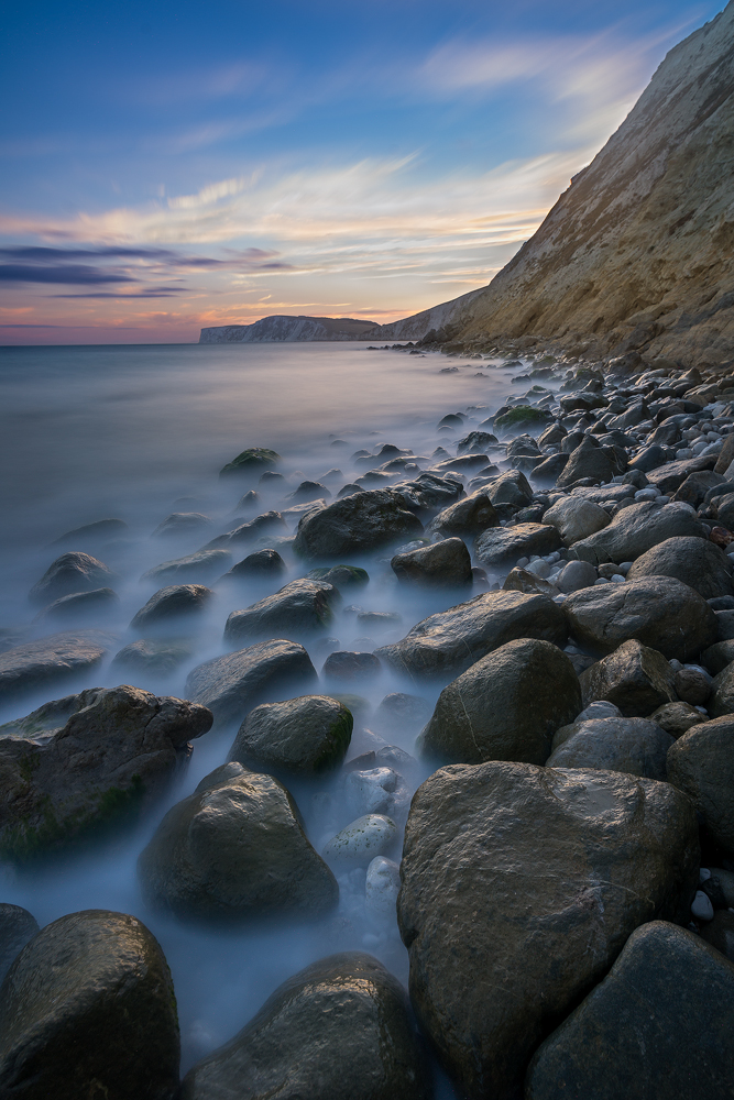 Shortly after Sunset at Compton Bay, Isle of Wight, UK     Kurz nach Sonnenuntergang in der Compton Bay, Isle of Wight, Großbritannien     2016