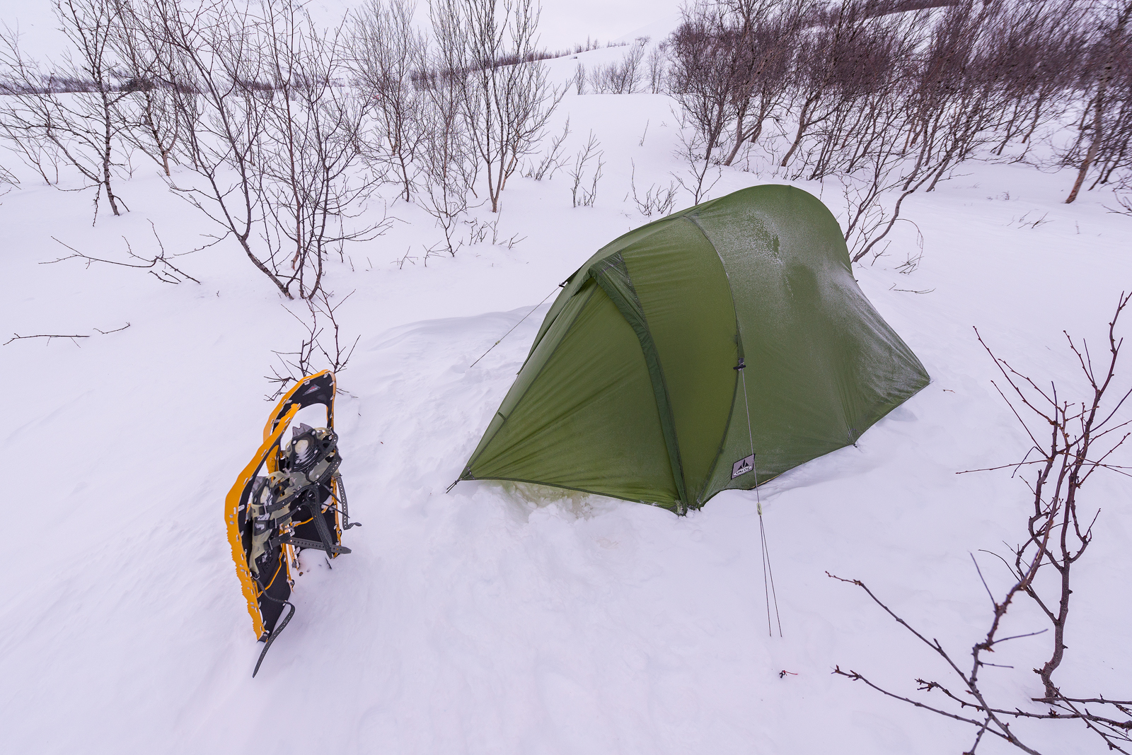 My tent at Mount Giron P