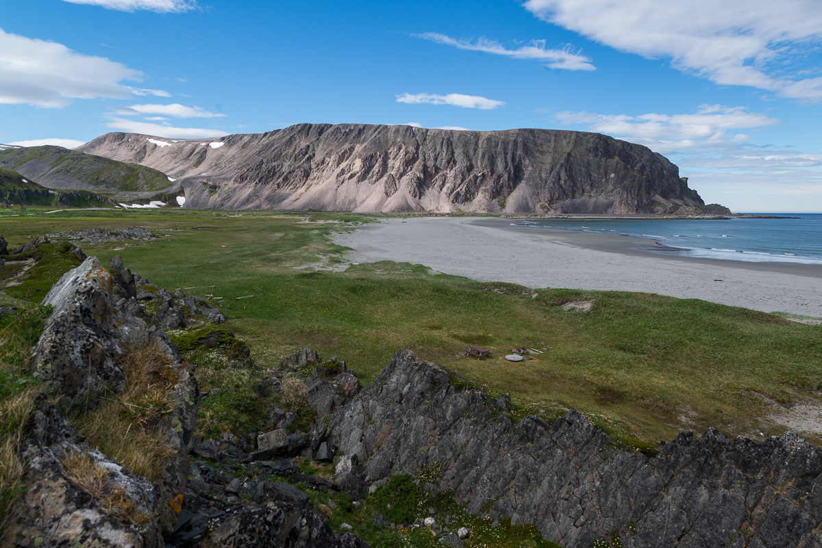 The stunning landscape of Sandfjord near Berlevåg