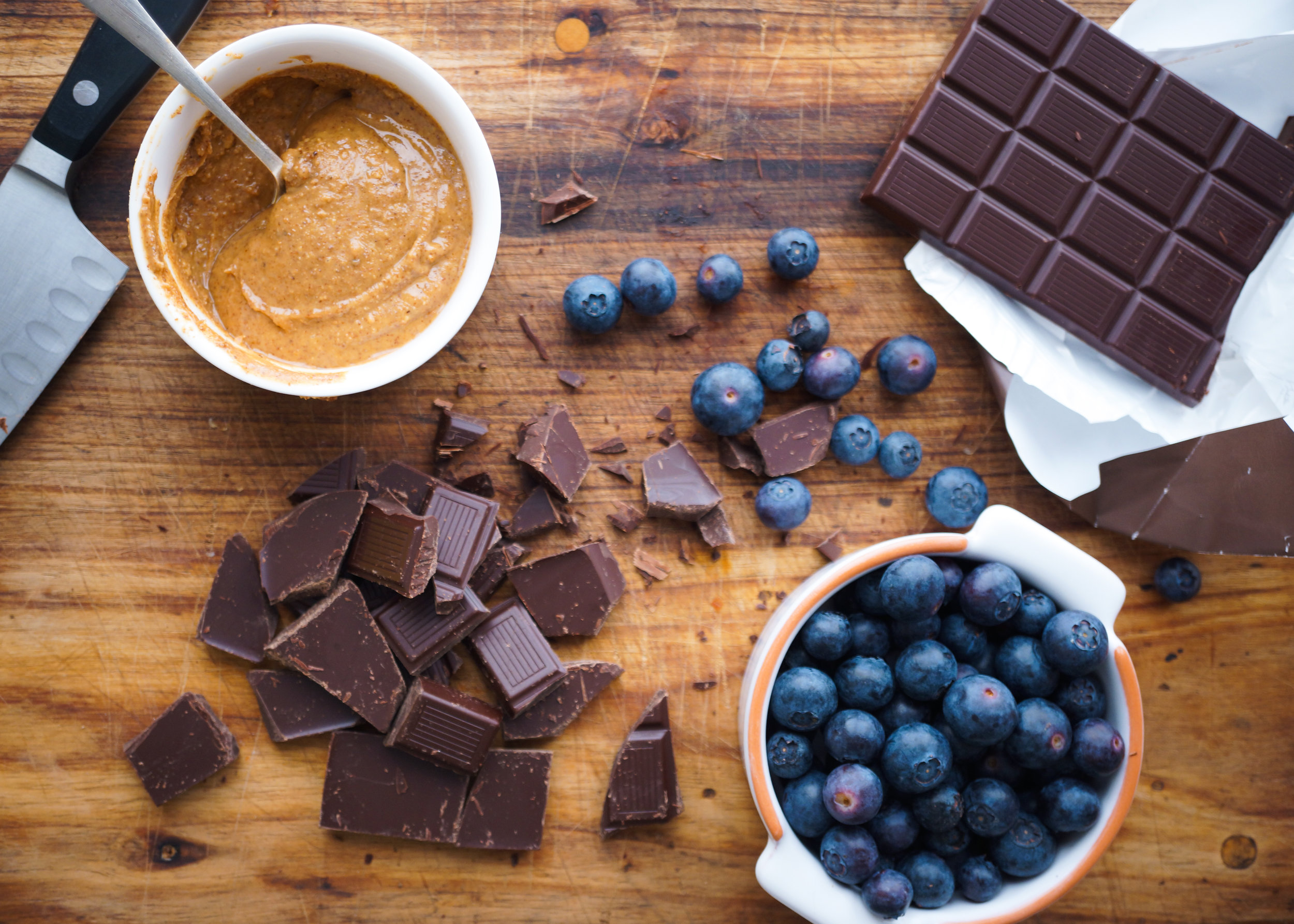 Blueberry & almond butter cups