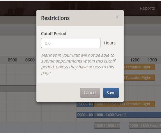 Restrictions Modal