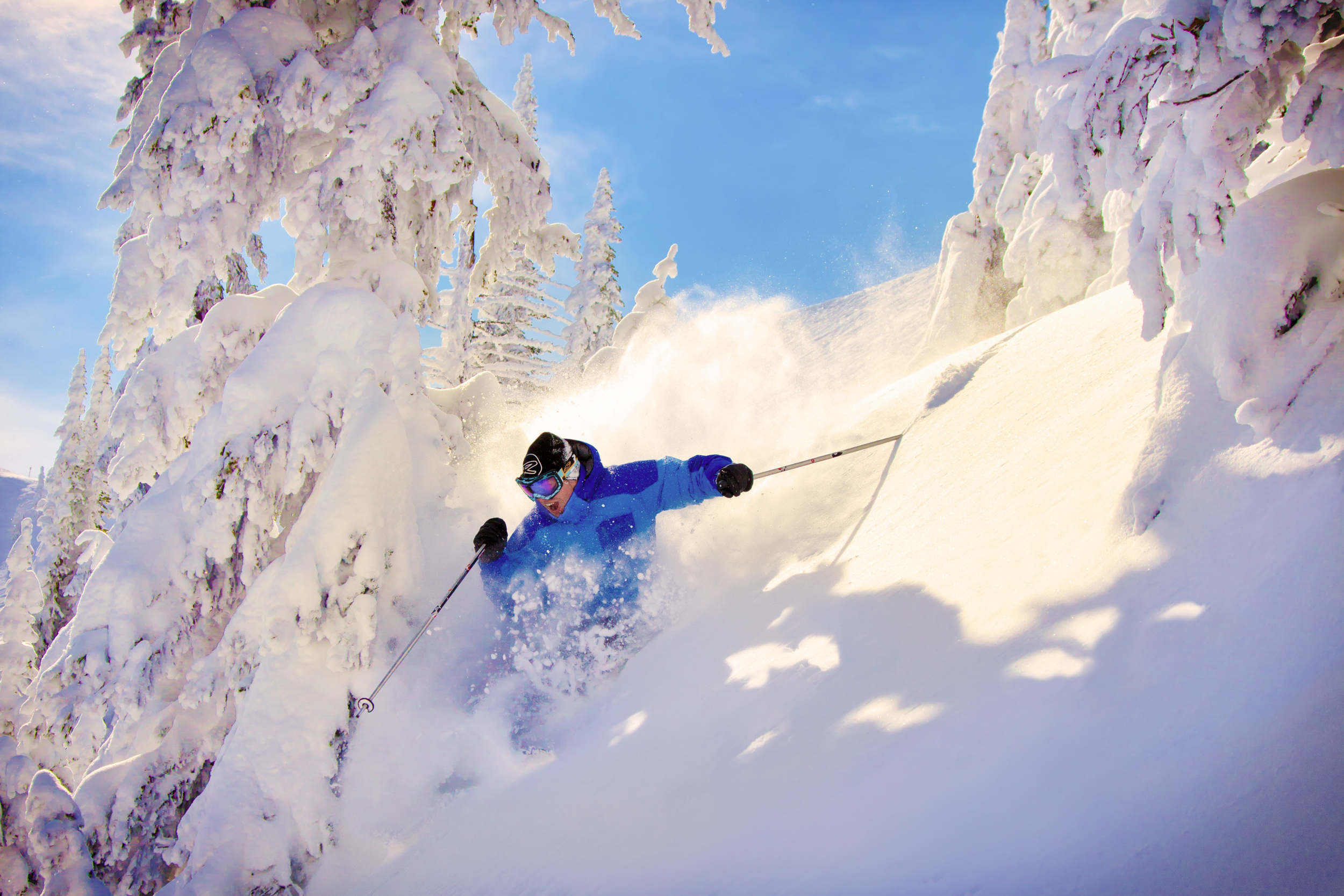 Blake Skiing Powder