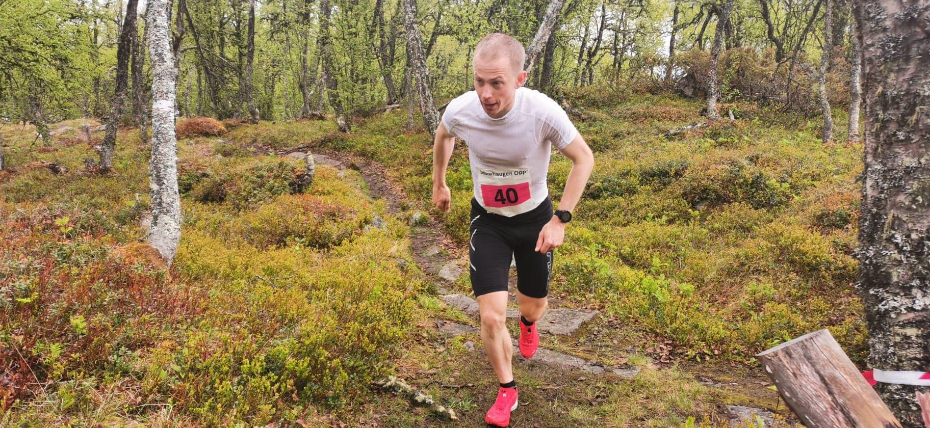 KJAPPAST: Øyvind Heiberg Sundby var kjappast av alle og vann herreklassa på tida 34.26.