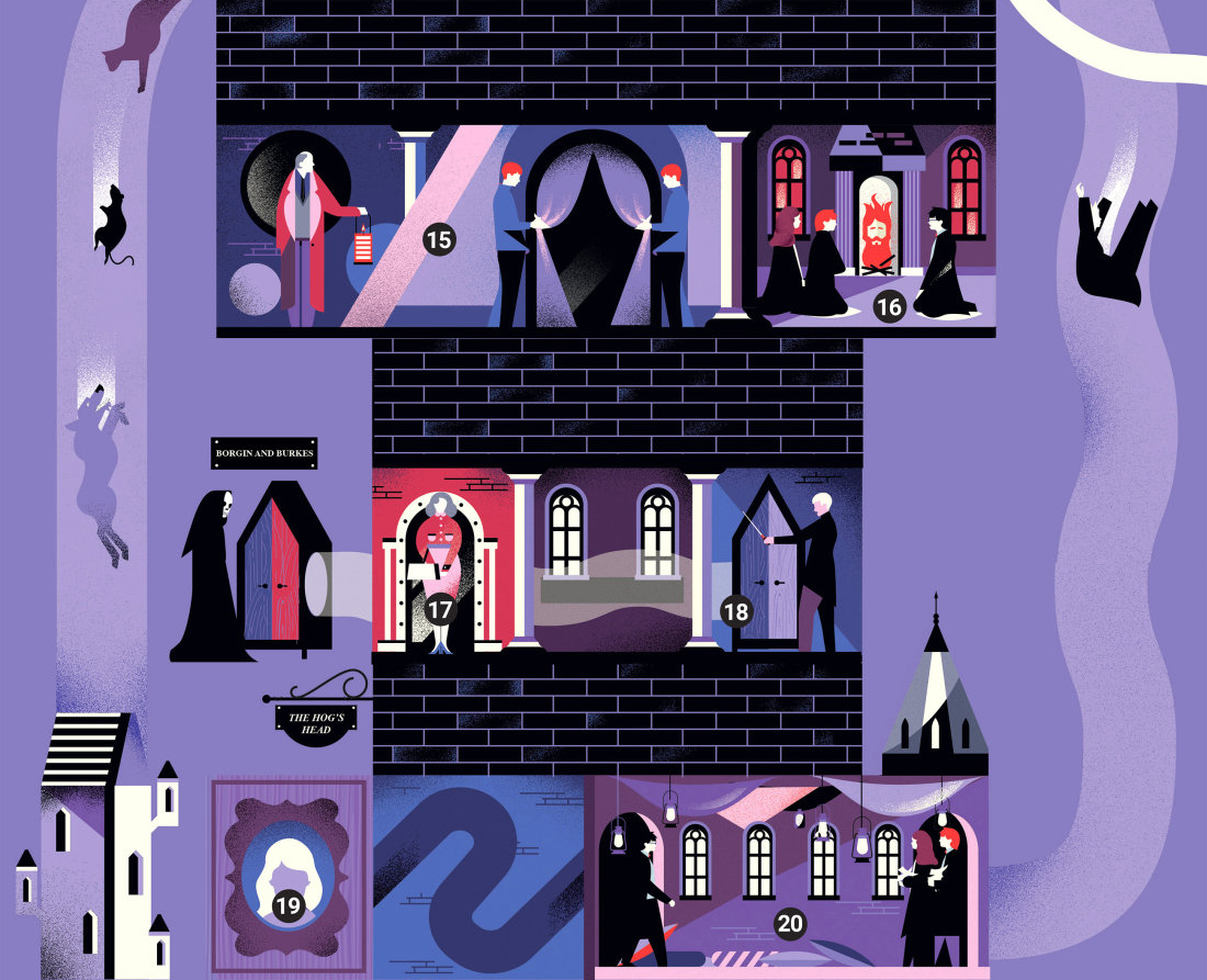 """Detail from the """"Secret Passageways"""" infographic"""