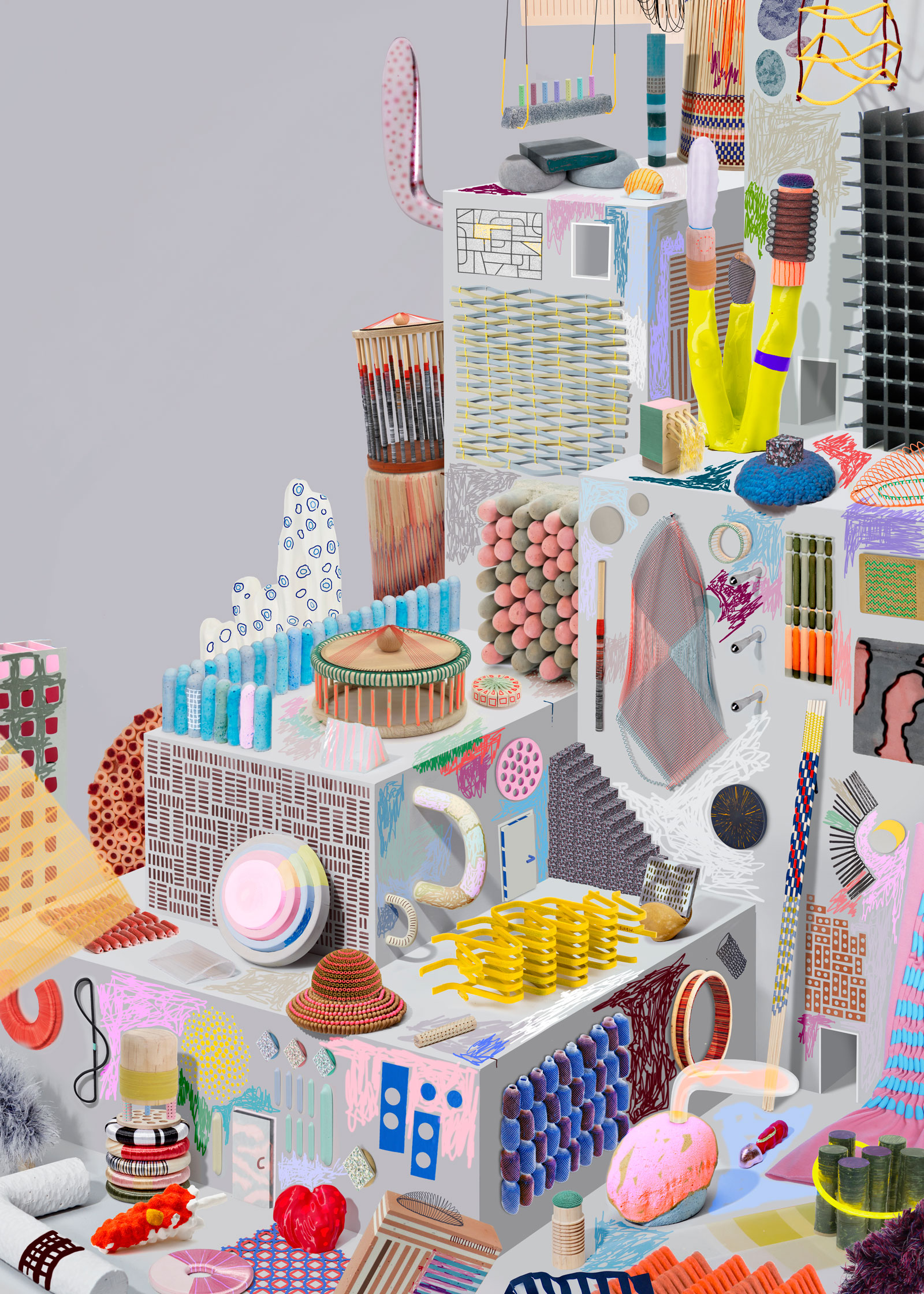 """structured textiles  part of """"envisions part 2"""" during Dutch Design Week 2016"""