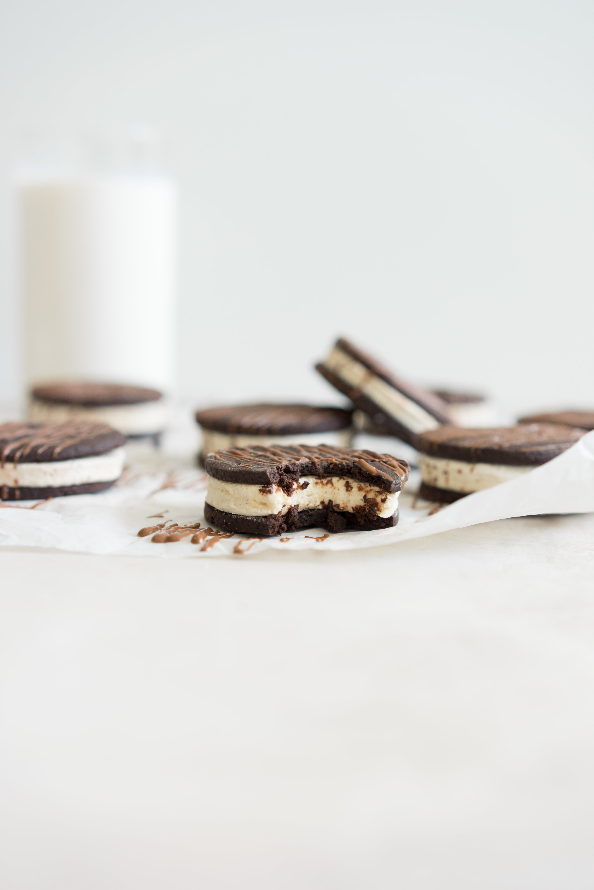 Chocolate Sandwich Cookies with Tahini Marshmallow - every bit as magical as they sound.